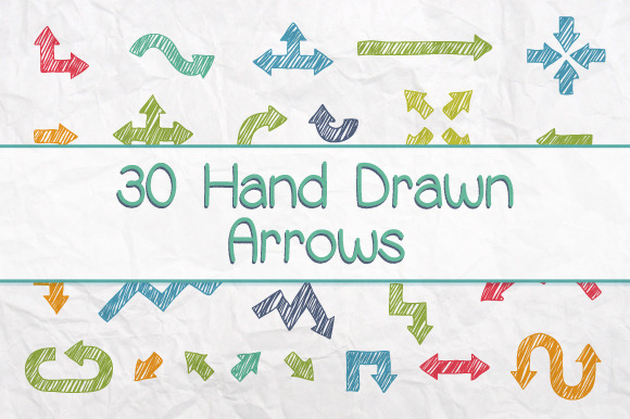Drawn arrow handmade Besides frame are Incredible or