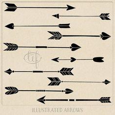 Drawn arrow handmade Tribal Arrow Drawn White Arrows