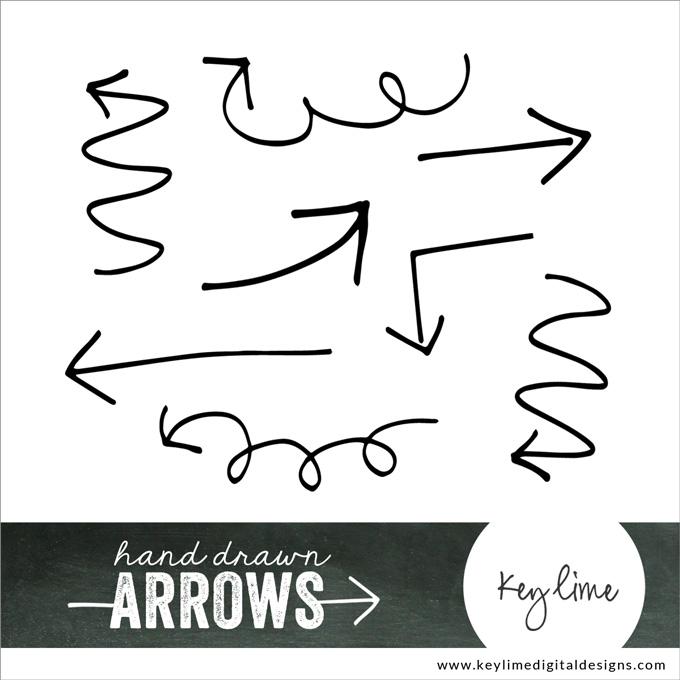 Drawn arrow handwritten Www Free keylimedigitaldesigns digital Graphics