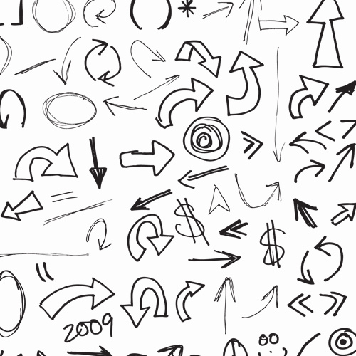 Drawn arrow handwritten FREE hand Resources arrows and