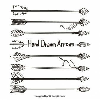 Drawn arrow indian Drawn Vector Tribal l'image