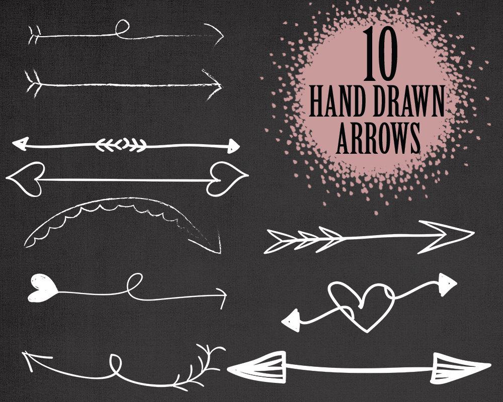 Drawn arrow overlays Drawn Graphic Hand  Digital