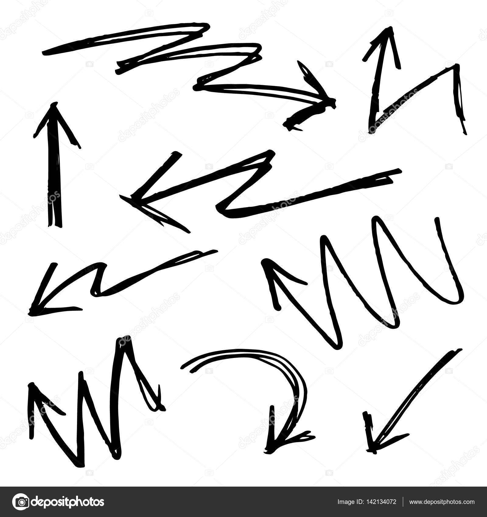 Drawn arrow pencil #5