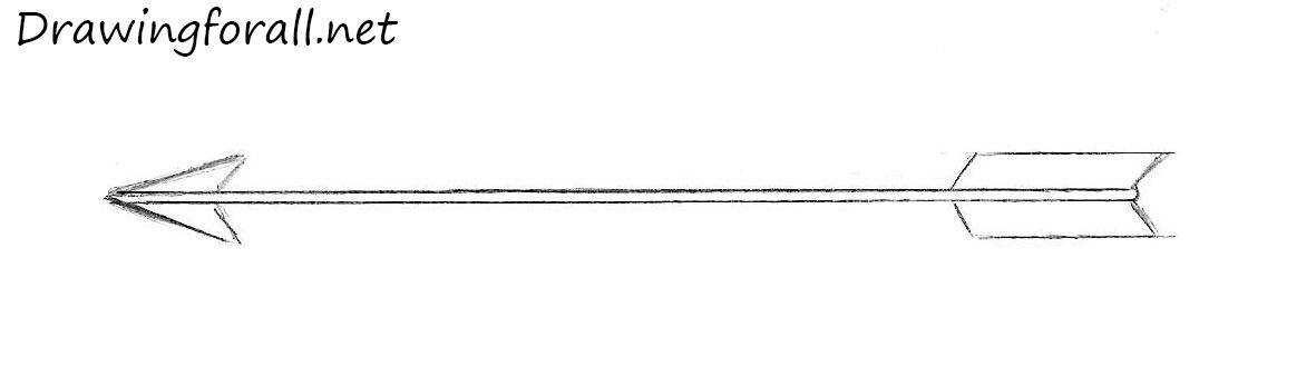 Drawn arrow pencil #3