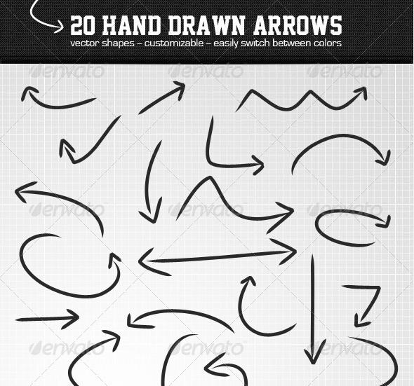 Drawn arrow psd #5