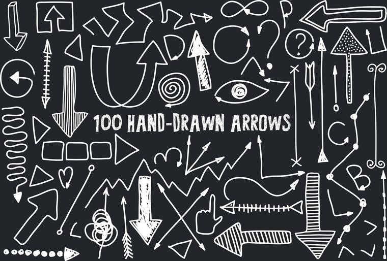 Drawn arrow psd #2