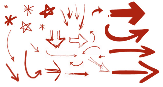Drawn arrow psd #1