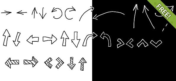 Drawn arrow psd #3