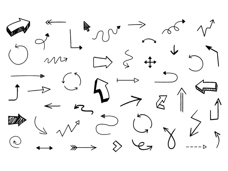 Drawn arrow sketch Arrows free freebie Hand Sketch