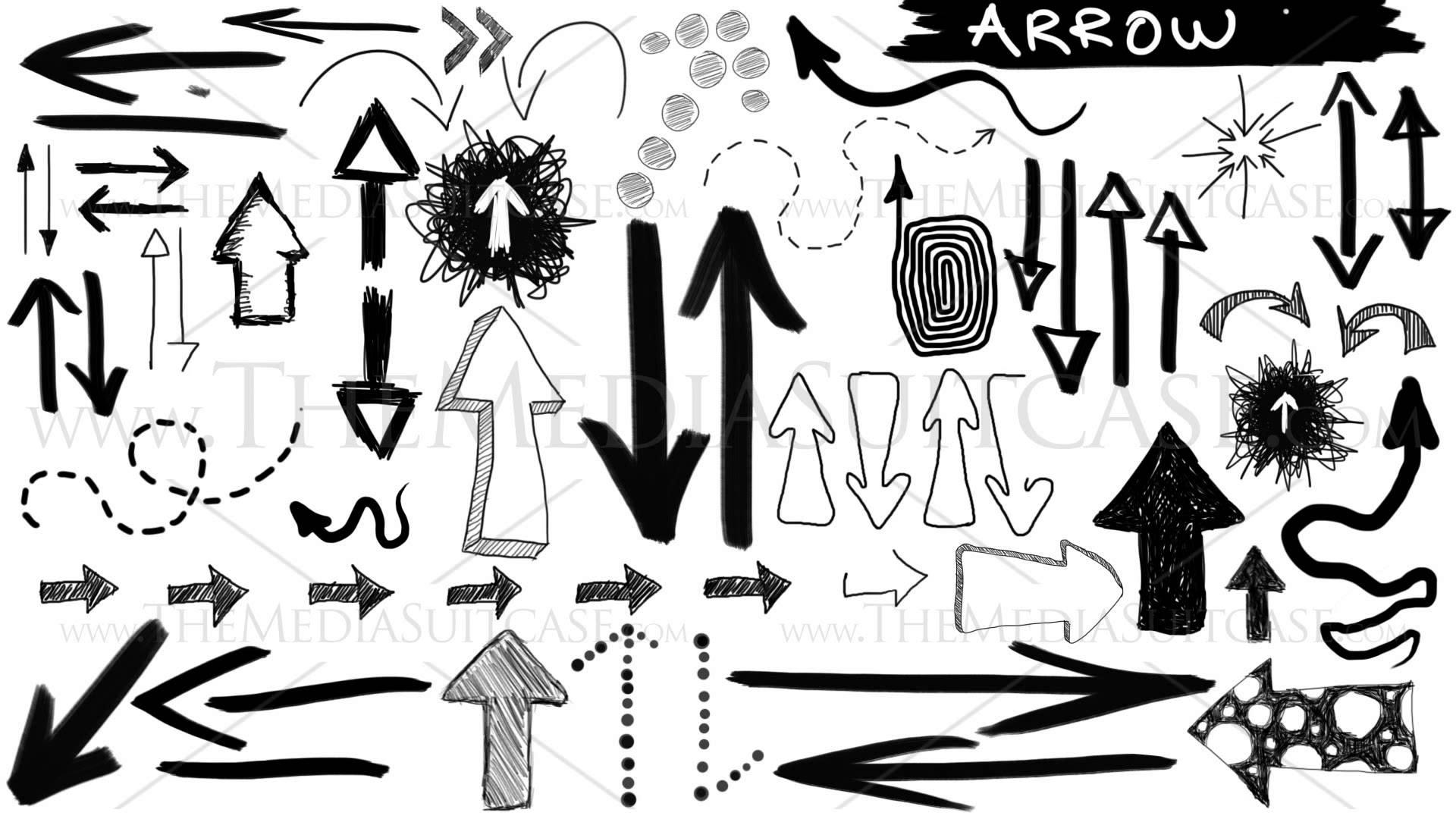 Drawn arrow sketch YouTube Animated Hand HD Drawn