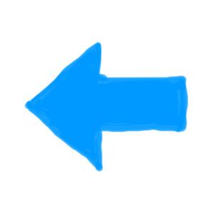 Drawn arrow straight Drawn blue drawn icon left
