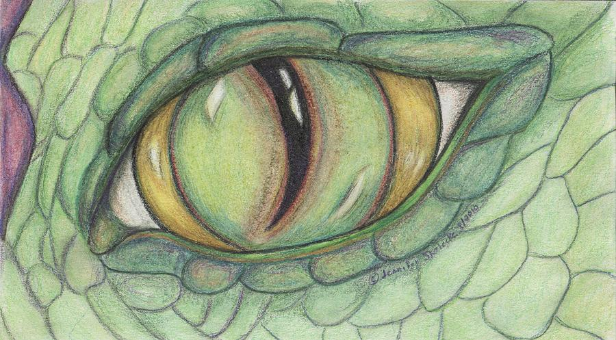 Drawn artistic dragon eye #12