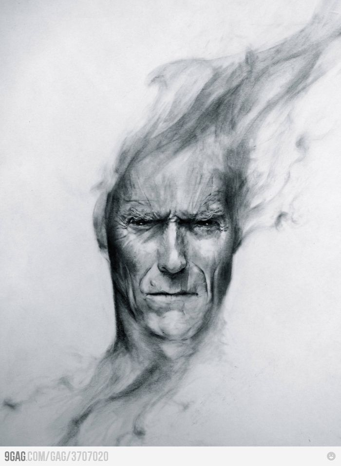 Drawn smoke face Cool drawing Pinterest PORTRAIT Best