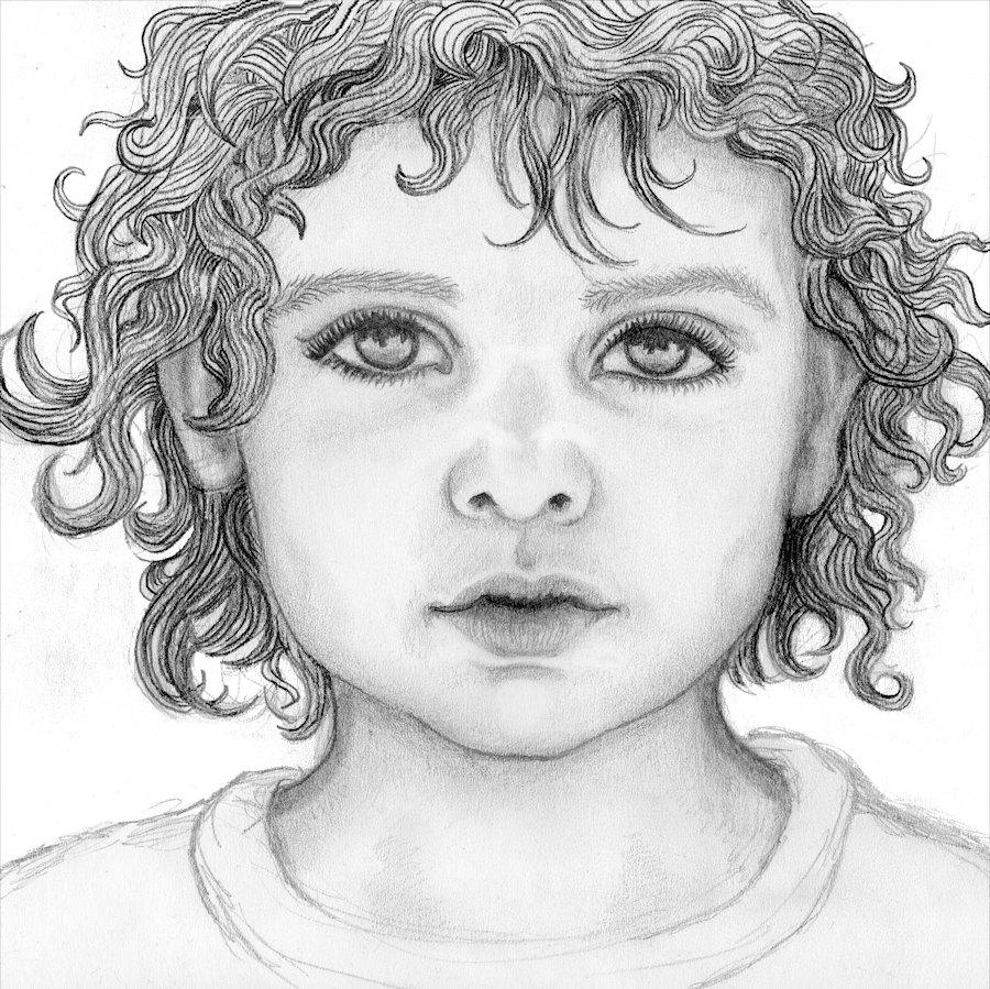 Drawn portrait cute Photograph drawn size Custom pencil