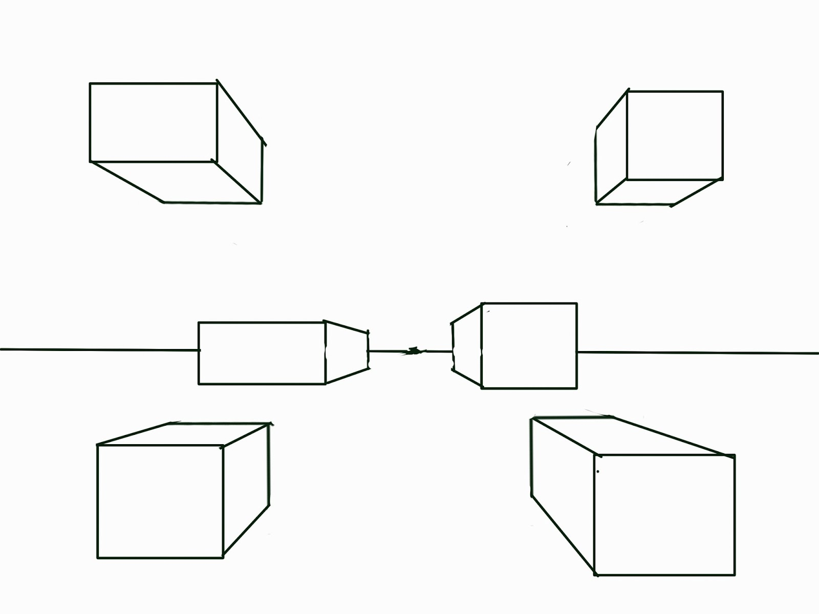 Drawn box square An with boxes  The