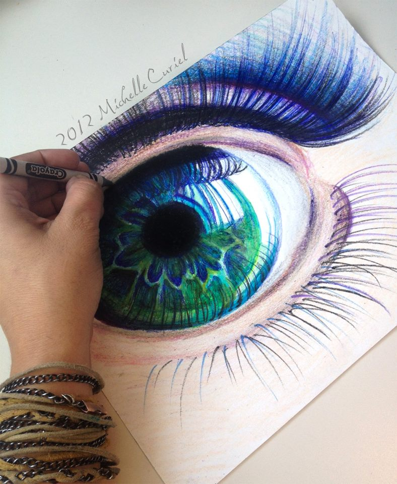 Drawn stare crayon Have who drawing example a
