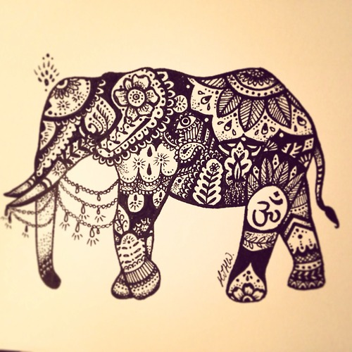 Drawn asian elephant Friends much having fun