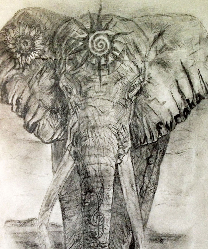 Drawn asian elephant Heart Marie's elephant Blog for