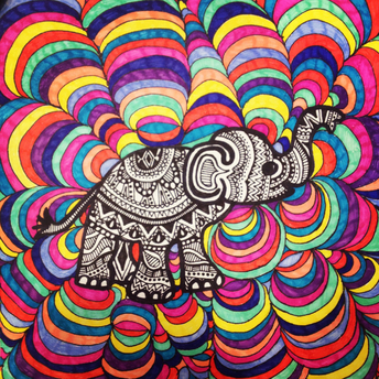 Drawn asian elephant Cute! so design I'm trippy