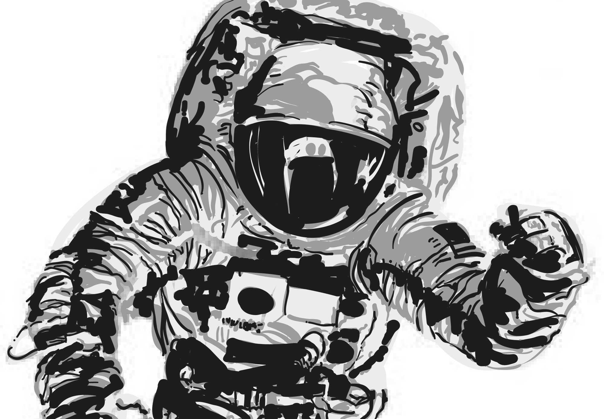 Drawn astronaut Drawing Art Astronaut Images Realistic