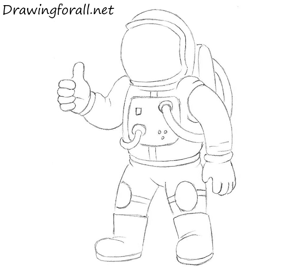 Drawn astronaut How an DrawingForAll for an