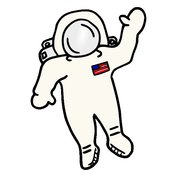 Astronaut clipart drawn Drawings Drawing space keyword (page