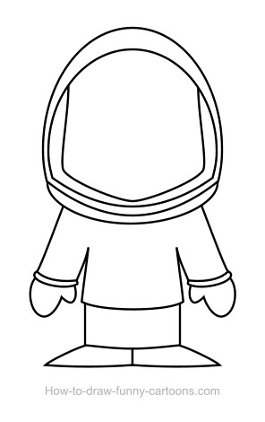 Astronaut clipart drawn Astronaut drawing drawing astronaut +