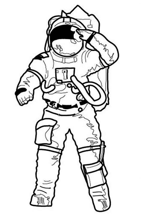 Astronaut clipart drawn Making Colouring on Colouring Space