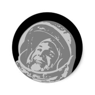 Drawn astronaut Sticker Zazzle Classic Union Soviet