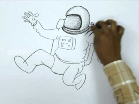 Drawn astronaut Astronaut Draw an to YouTube