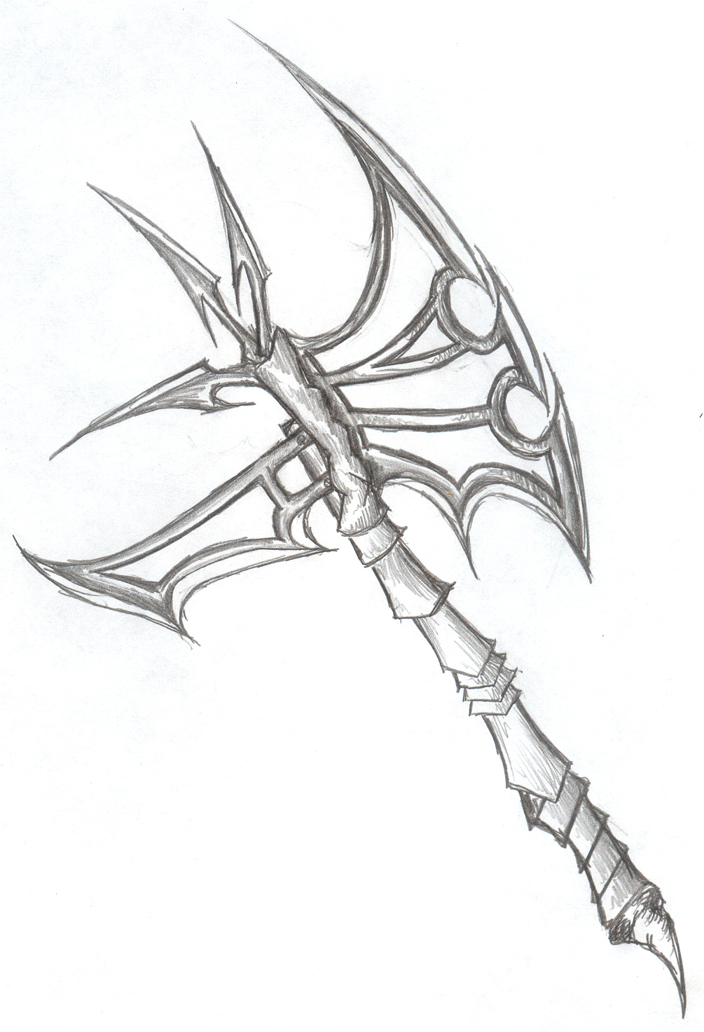 Drawn axe Axe Valgrisk on Axe Axe