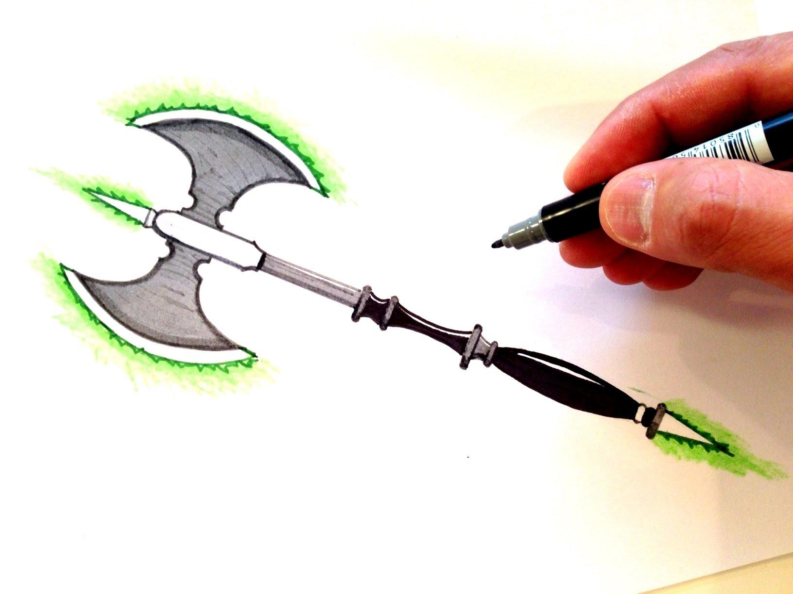 Drawn shotgun old gun Lightsaber Axe to YouTube How