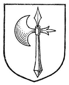 Drawn axe heraldic Medieval  History: Heroes Source