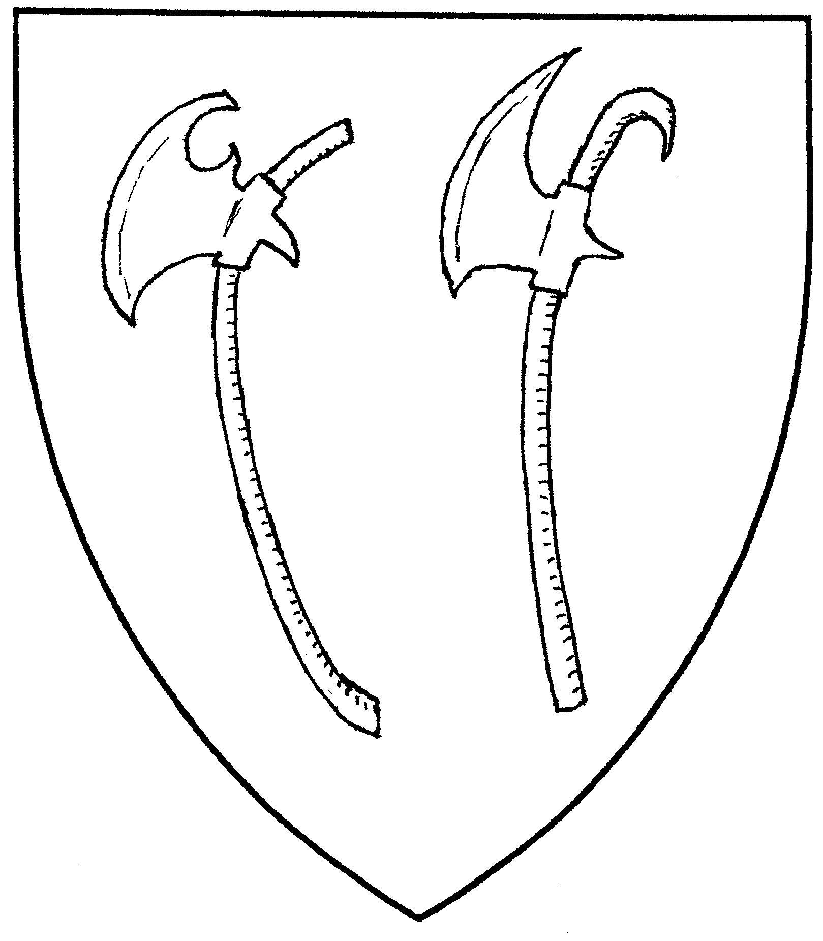 Drawn axe heraldic Axe Mistholme Axe axe (Period);