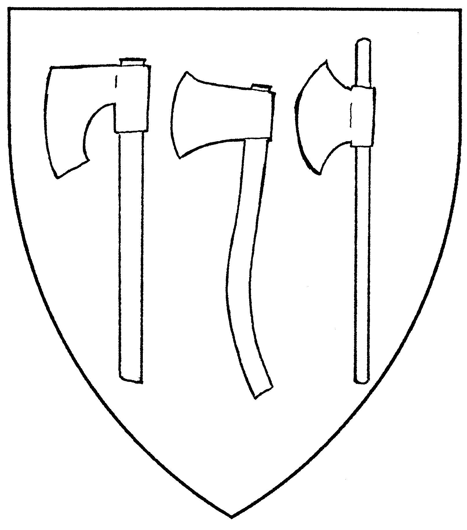 Drawn axe heraldic Axe axe Mistholme axe headsman's