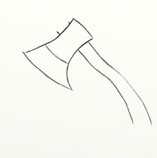 Drawn axe iron Of the How axe handle