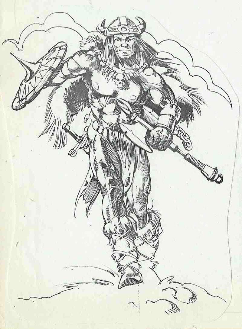 Drawn axe sketch Taylor Mark