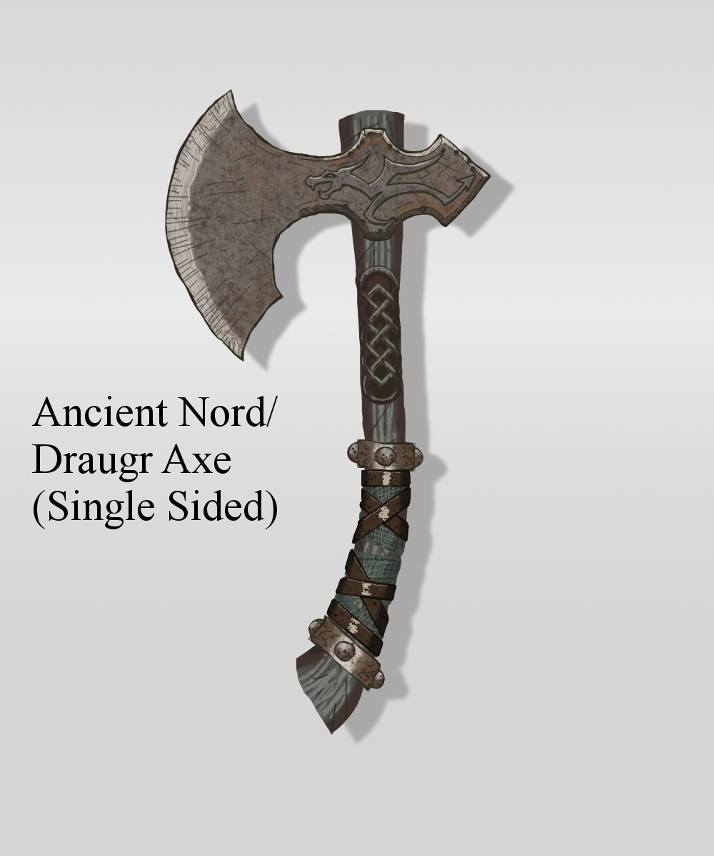 Drawn axe skyrim one handed 1  Nord Drewsbrew Ancient