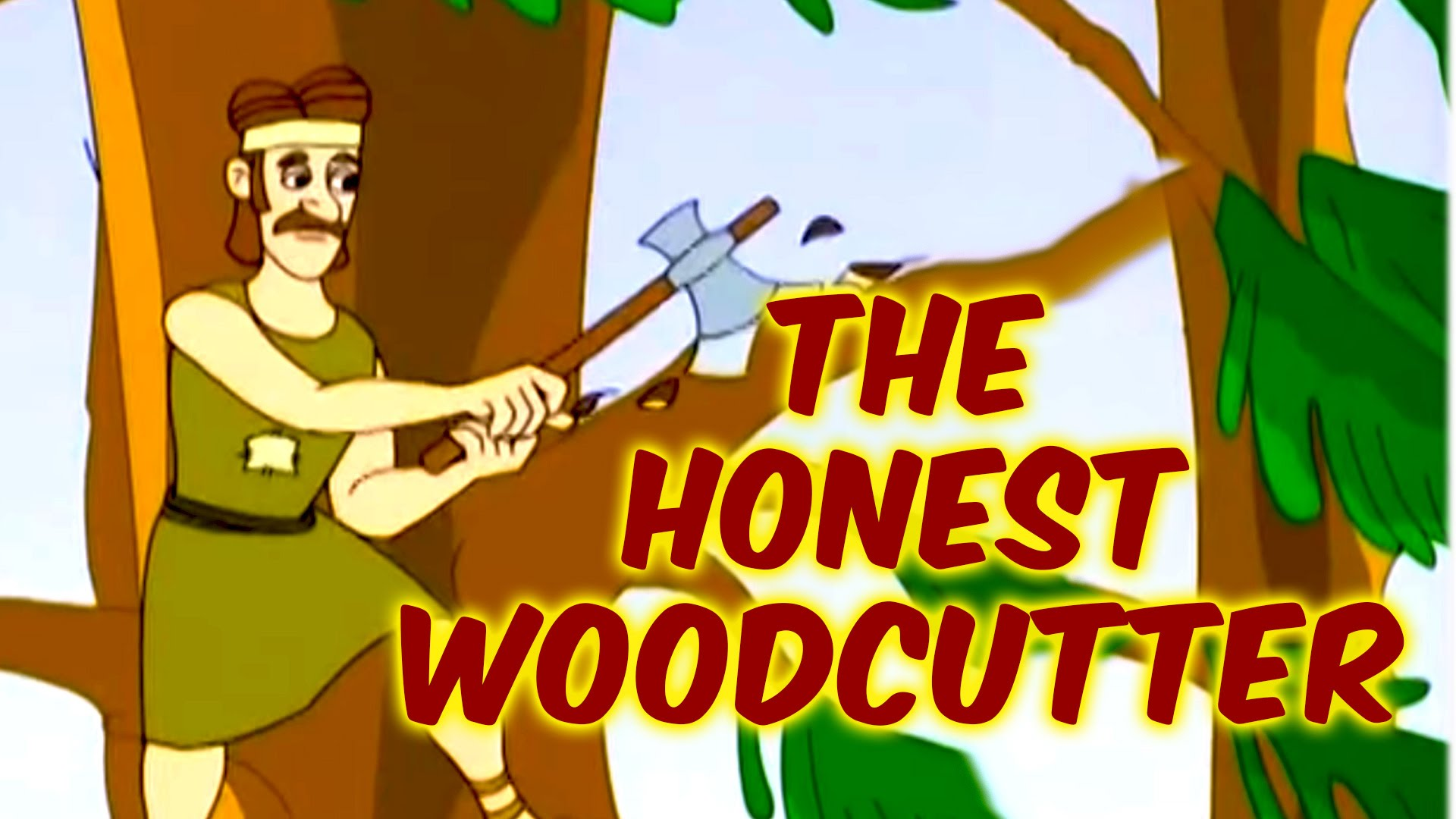 Drawn axe woodcutting  Moral Stories English Stories