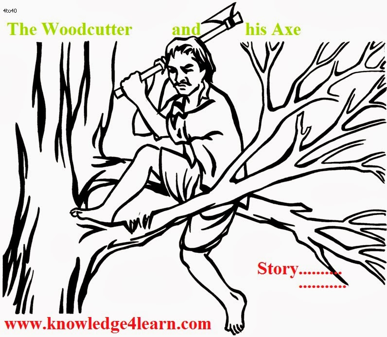 Drawn axe woodcutting With with story story great