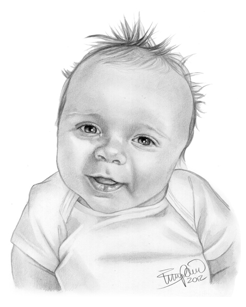 Drawn baby #8