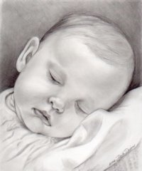 Drawn baby #15