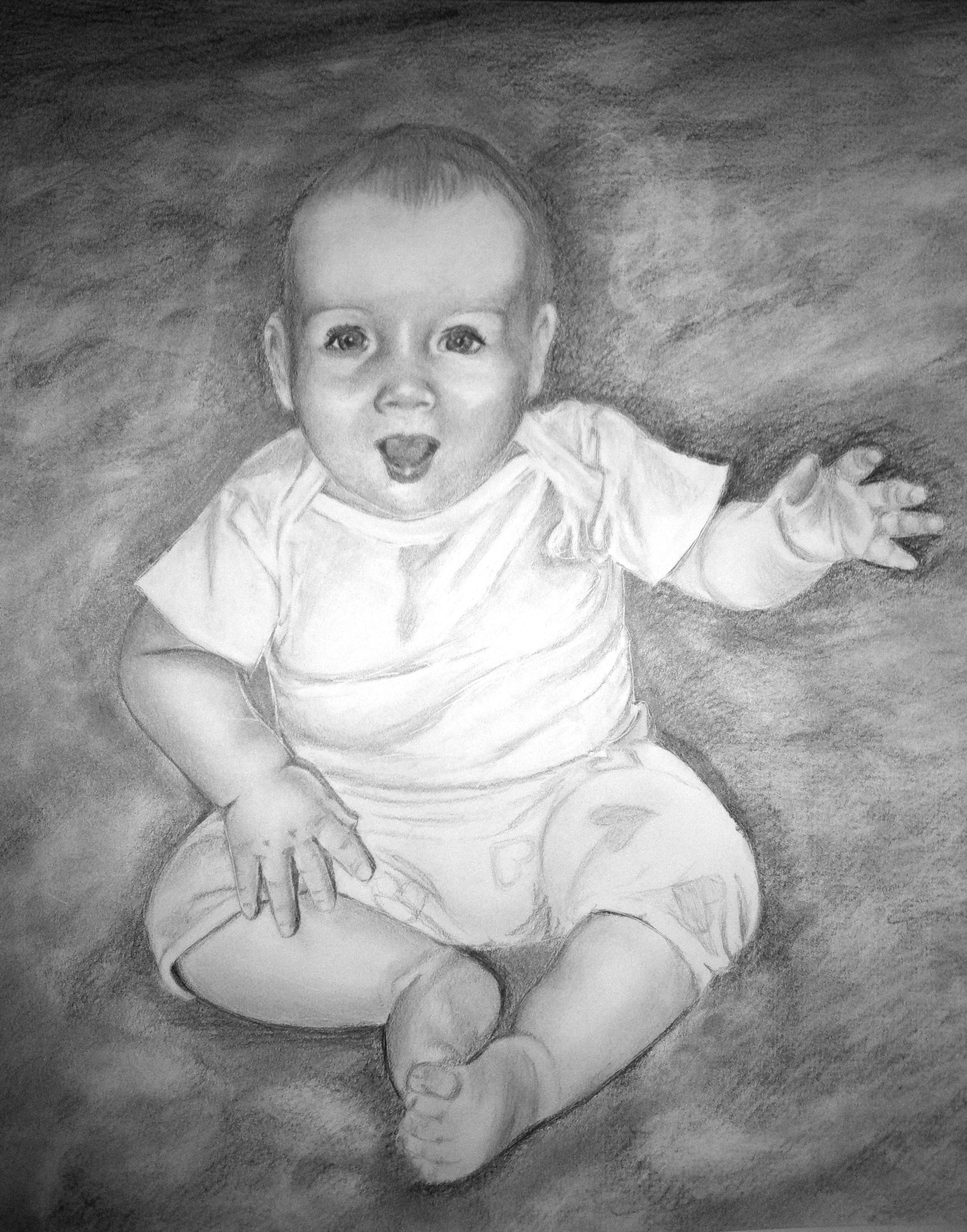 Drawn baby #13