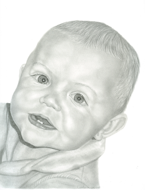 Drawn baby Graphite  Graphite with to