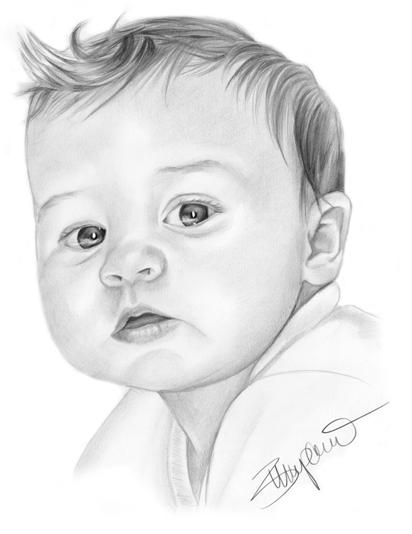 Drawn baby #4