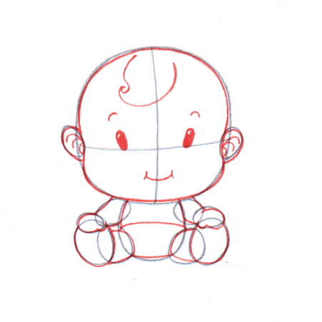 Drawn baby #3