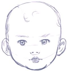 Drawn baby A Step finished How Face