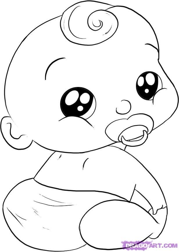 Drawn baby #6