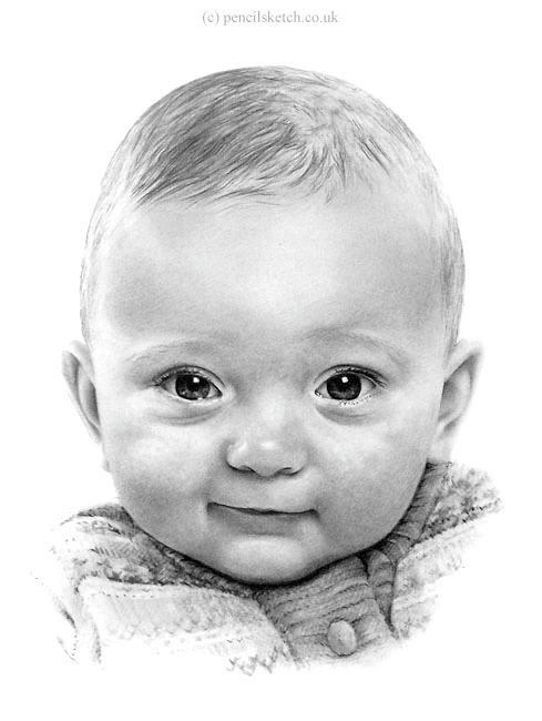 Drawn portrait sketch Of Baby Drawing Pinterest Best