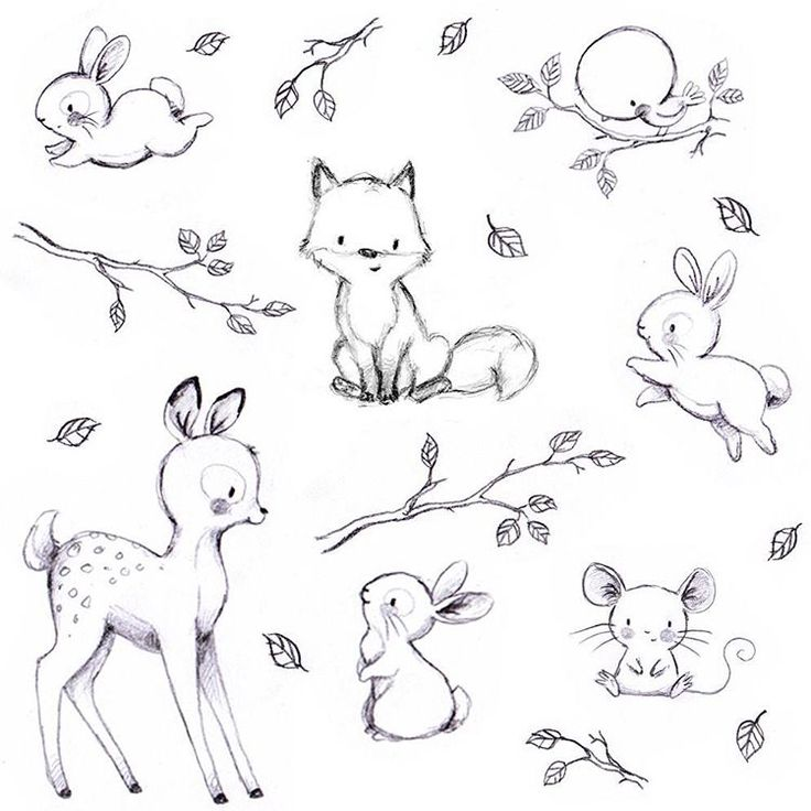 Drawn rabbit baby animal Ideas inspired animal Baby drawings